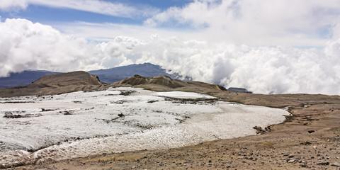 Glacier Volcano Nevado del Ruiz, Los Nevados Parque Nacional Nat