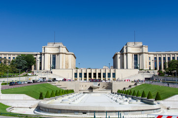 Palais de Chaillot at the Trocadero in Paris, France