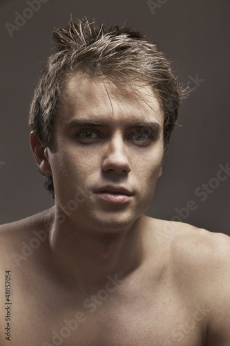 Portret Of Young Man With Naked Torso