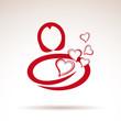 Vector Logo woman in love