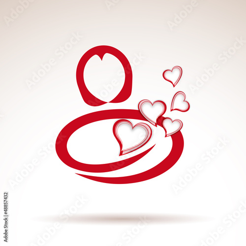 Vector Logo woman in love