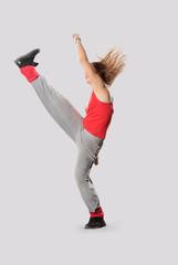 style dancer posing on studio background