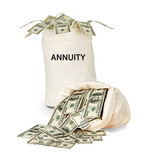 Bag with annuity poster