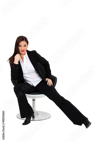 A sexy businesswoman.