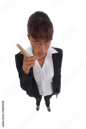 Businesswoman wagging her finger