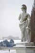 Vienna - Gloriette in  Schonbrunn palace and statue - winter