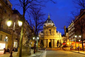 Sorbonne university by night, Paris France