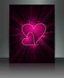 Valentine's Day brochure beautiful card design