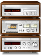 Music Stereo Audio Compact Cassette Deck with Amplifier and CD p