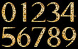 Abstract yellow numbers