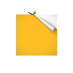 Scissors cutting paper. Vector illustration