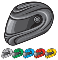 vector illustration of motorcycle helmet