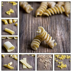 Collage - Italian pasta