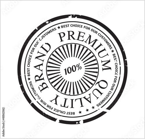 Vector premium quality brand stamp