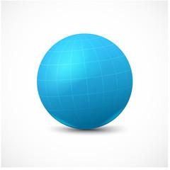 Blue vector sphere