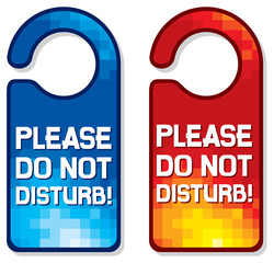 please do not disturb vector sign set