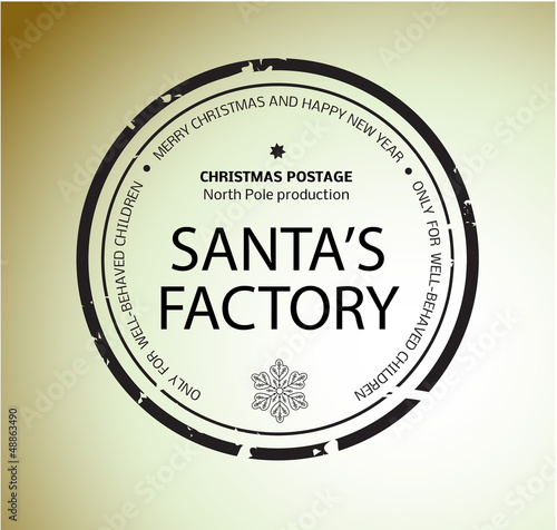 Christmas stamp Santa's Factory