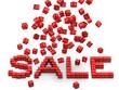 raining  sale concept