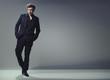 full length trendy elegant and handsome man