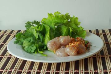 Sago pork snack in Thailand