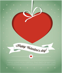Happy Valentine's day card with heart