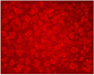 Abstract love red pattern with hearts