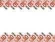Euro banknotes.Horizontal background.10.