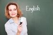 zufriedene Englischlehrerin