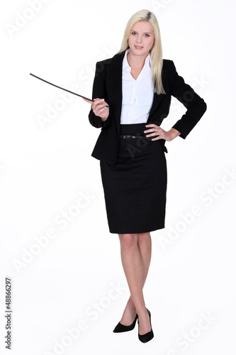 Woman giving a presentation