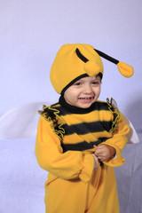 ape apina carnevale bimba