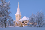 Arvidsjaur Church in winter, Sweden