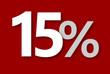 15 % Rabatt Aktion Angebot Sonderangebot Weiss ROT