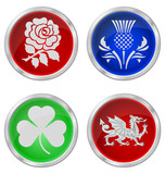 United Kingdom emblem buttons
