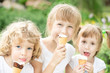 Children eating ice-cream
