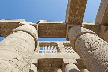 Columns at Karnak temple in Luxor