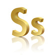 Vector letter S of golden design alphabet