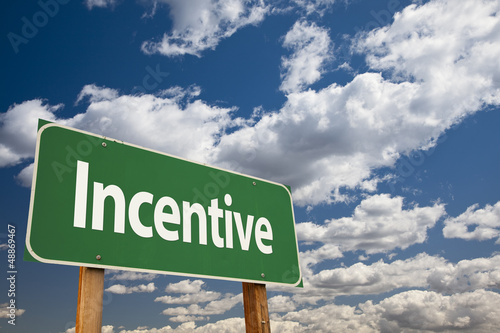 Incentive Green Road Sign