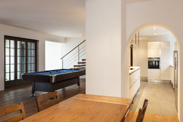 nice modern loft, large room view from the table