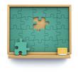 Puzzle chalkboard
