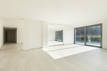 modern architecture, interior new empty apartment