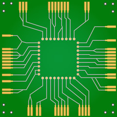 Printed circuit board for central processor unit