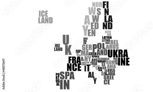 Textkarte Europa © Dirk Vonten