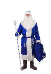Russian father Christmas in blue costume