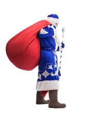 Father Christmas with red big bag