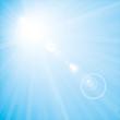 Hintergrund Blau Sonnenstrahlen mit Blend-Effekt