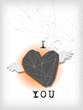 winged heart geometrical shape