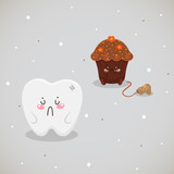 Cupcake and tooth