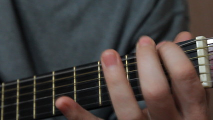 play on guitar