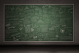 Fototapety Chalkboard with hand drawings