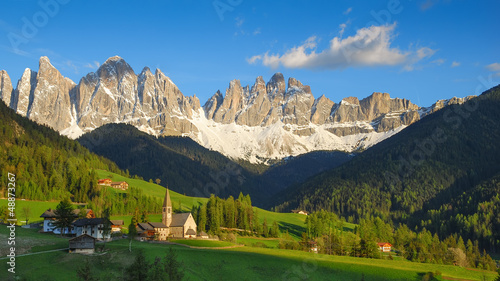 Santa Maddalena in the warm afternoon sunlight